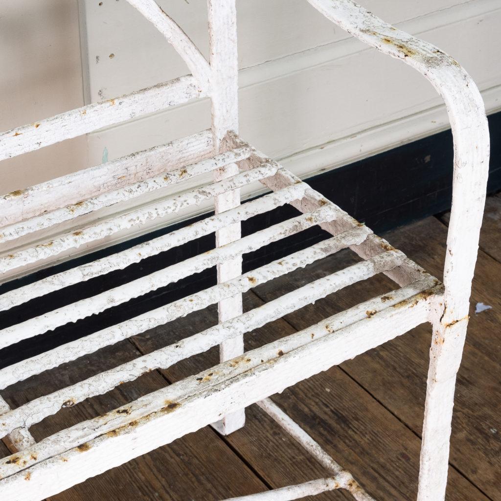 Regency wrought iron bench,-122459