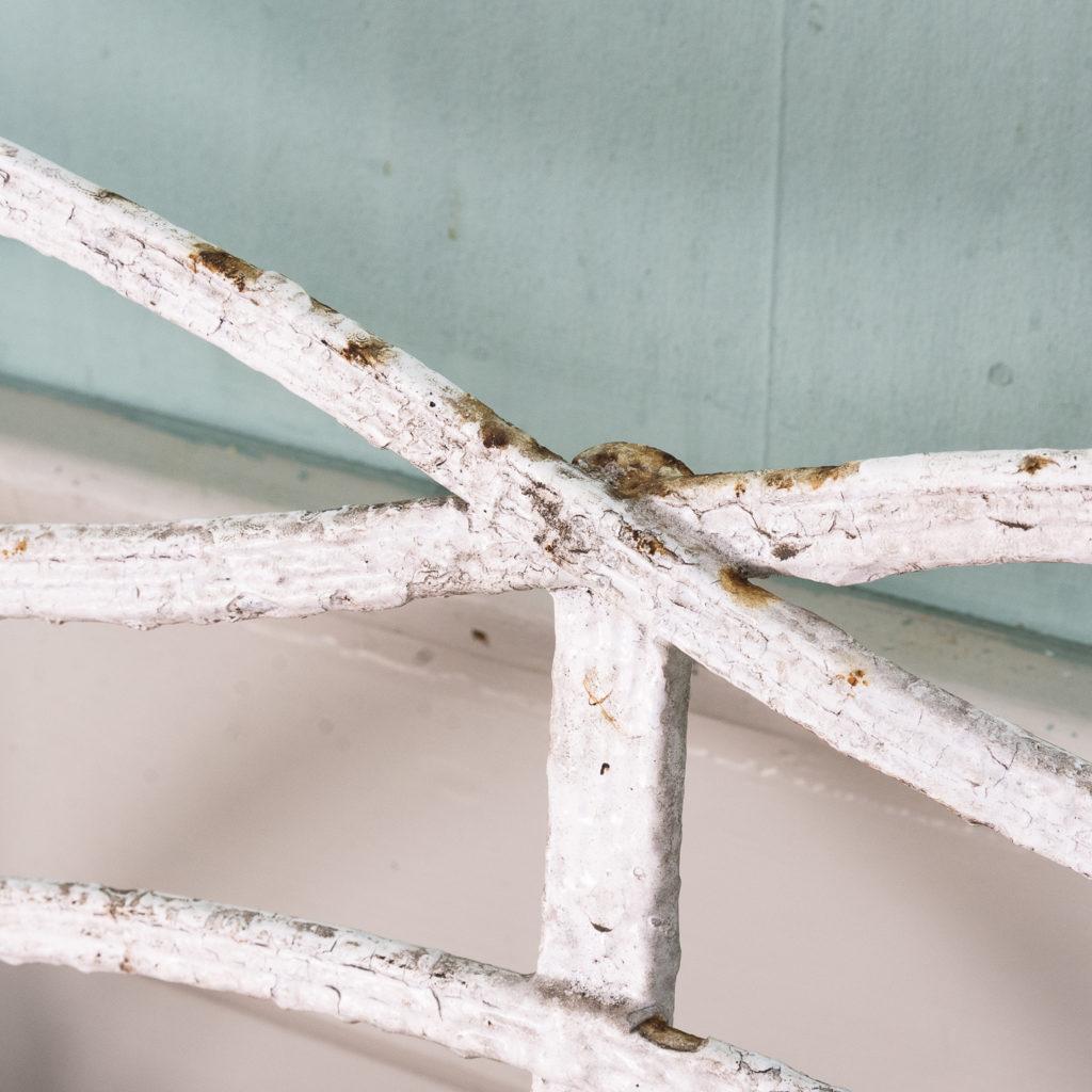 Regency wrought iron bench,-122450