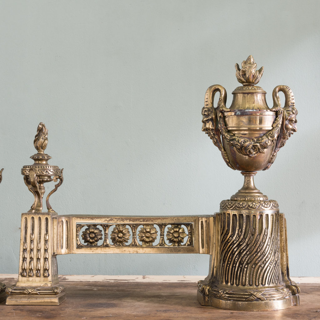 Pair of nineteenth century French chenets,-121232