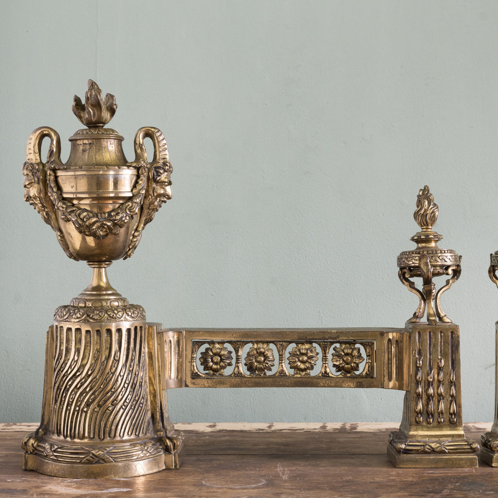 Pair of nineteenth century French chenets,-121234