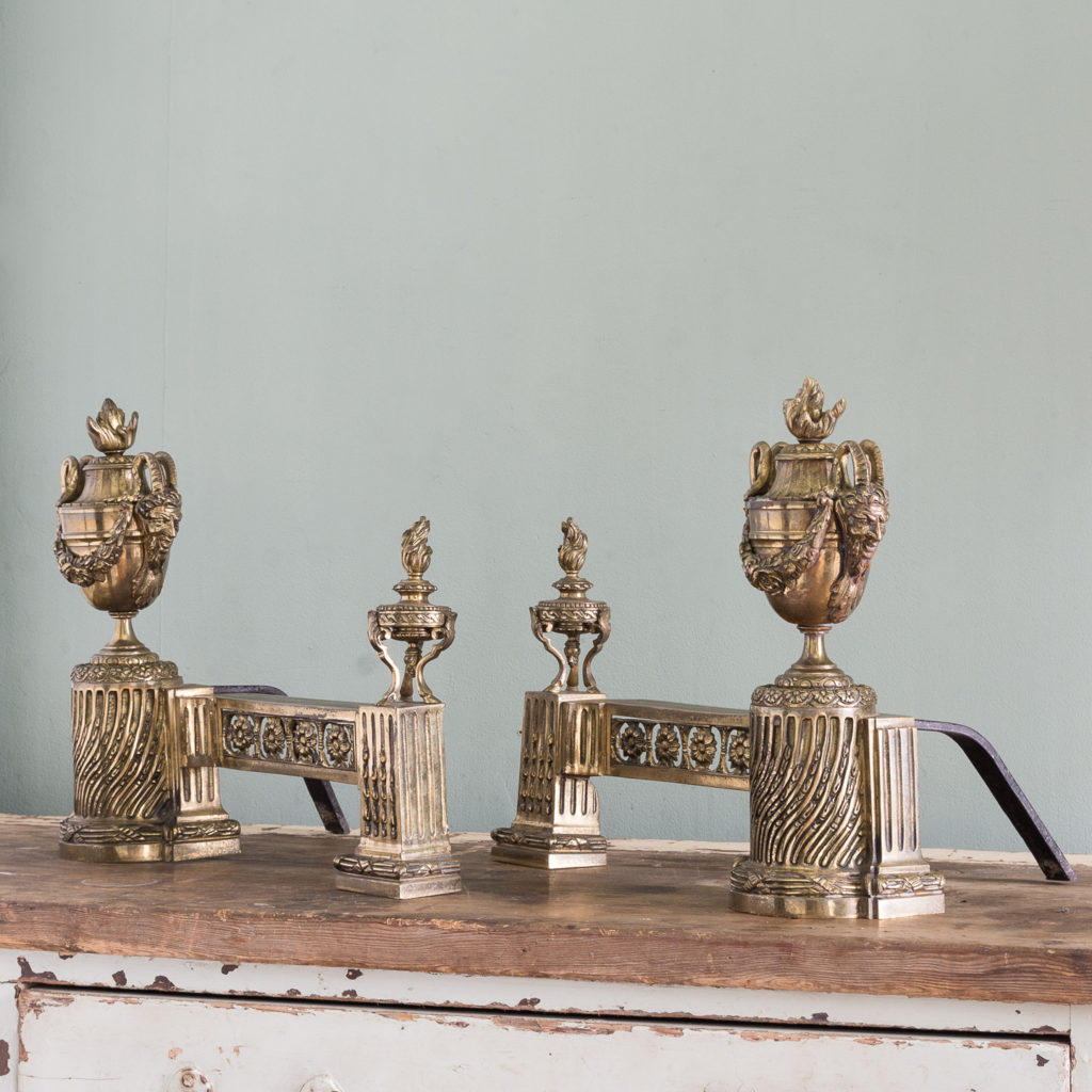 Pair of nineteenth century French chenets,-121242