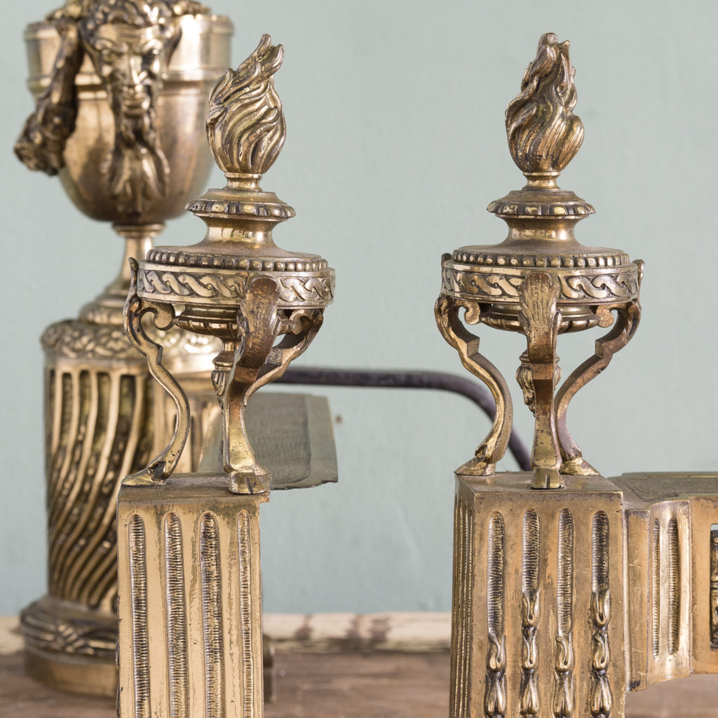 Pair of nineteenth century French chenets,-121243