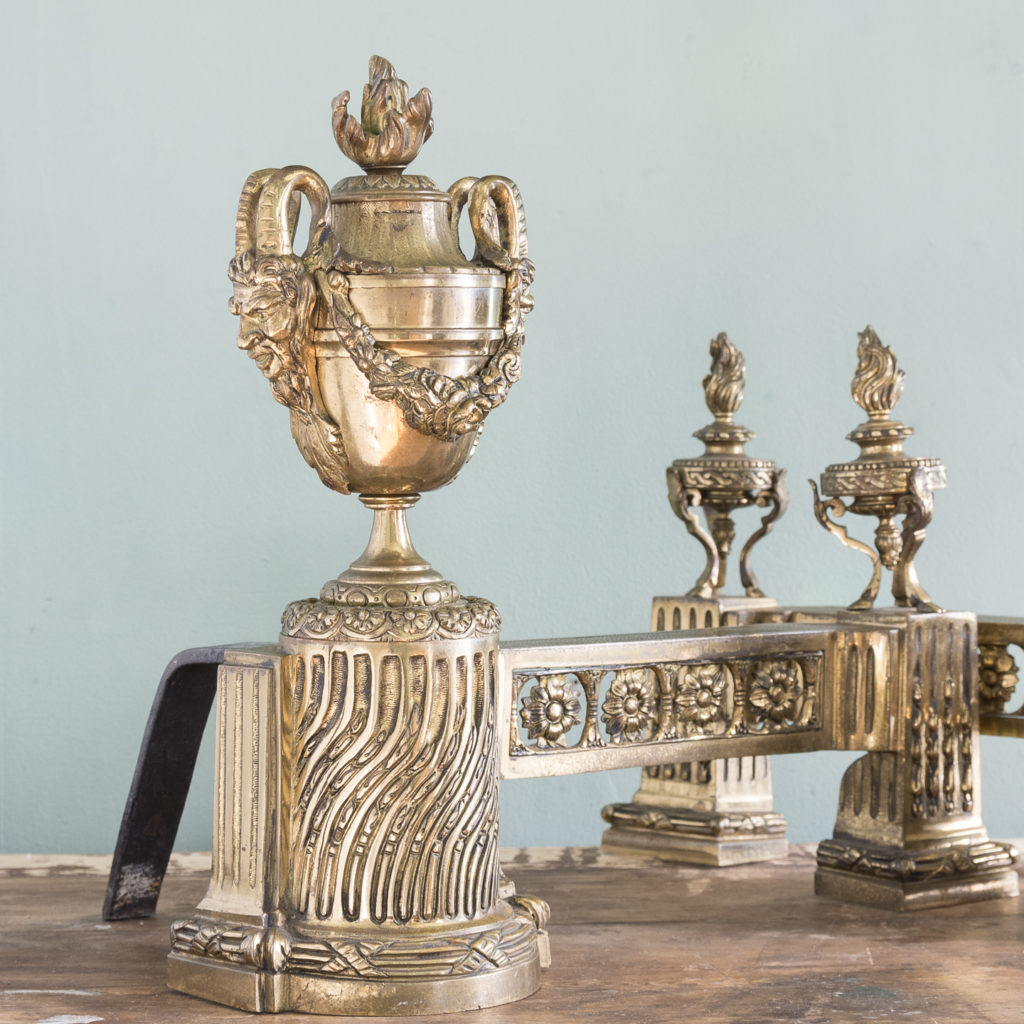 Pair of nineteenth century French chenets,-121231
