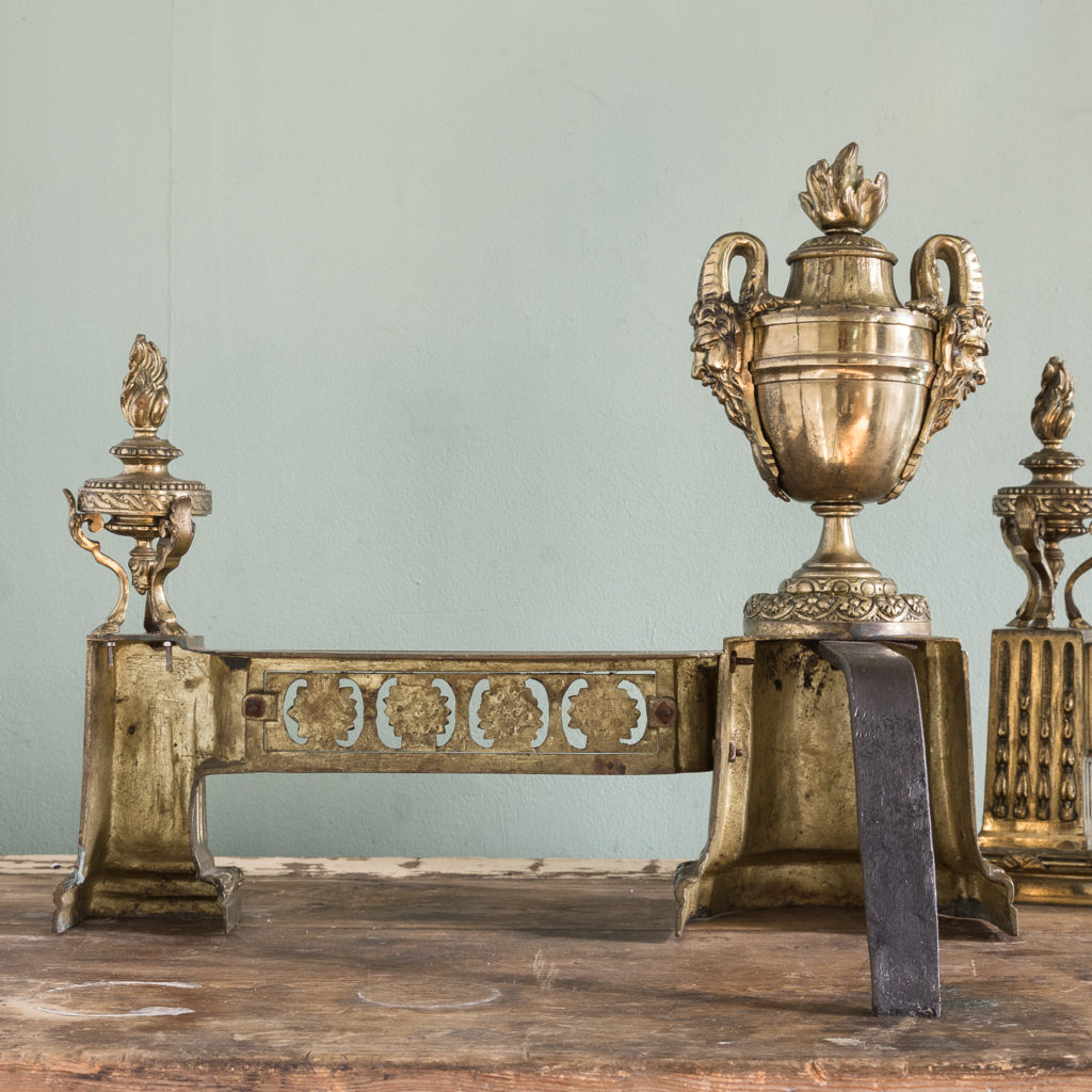 Pair of nineteenth century French chenets,-121244