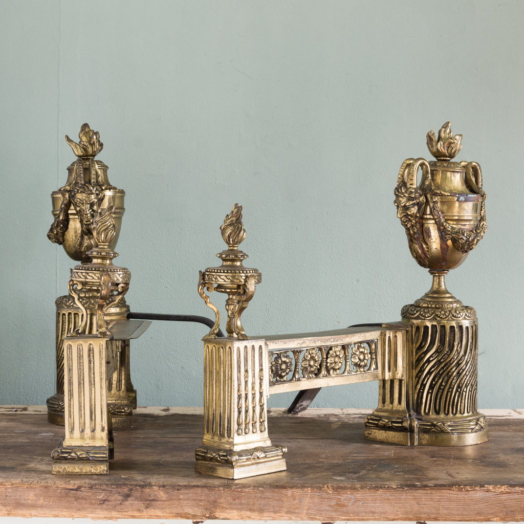 Pair of nineteenth century French chenets,-121240