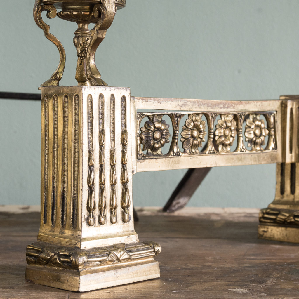 Pair of nineteenth century French chenets,-121229