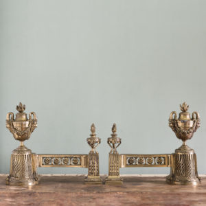 Pair of nineteenth century French chenets,-0
