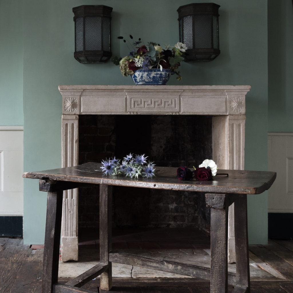 Spanish walnut tavern table,-122226