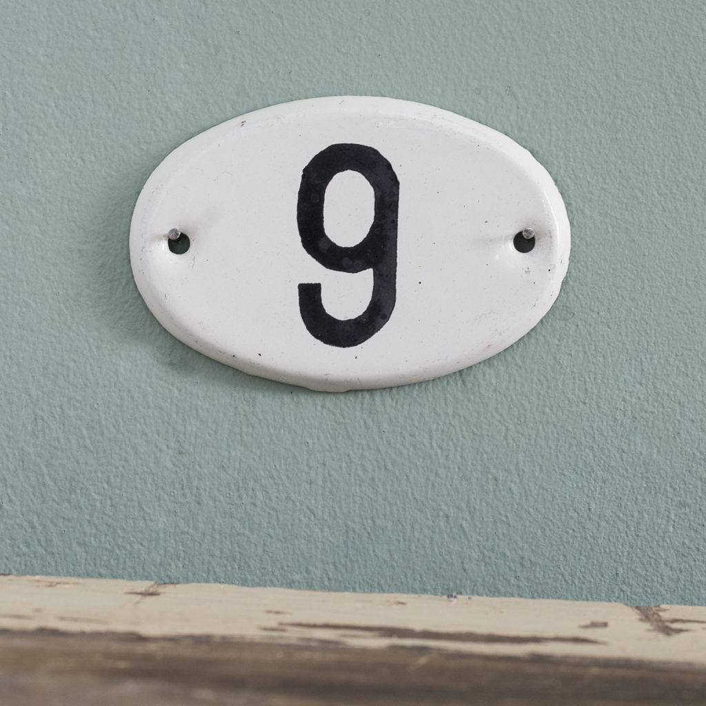 French enamelled house numbers,-121404