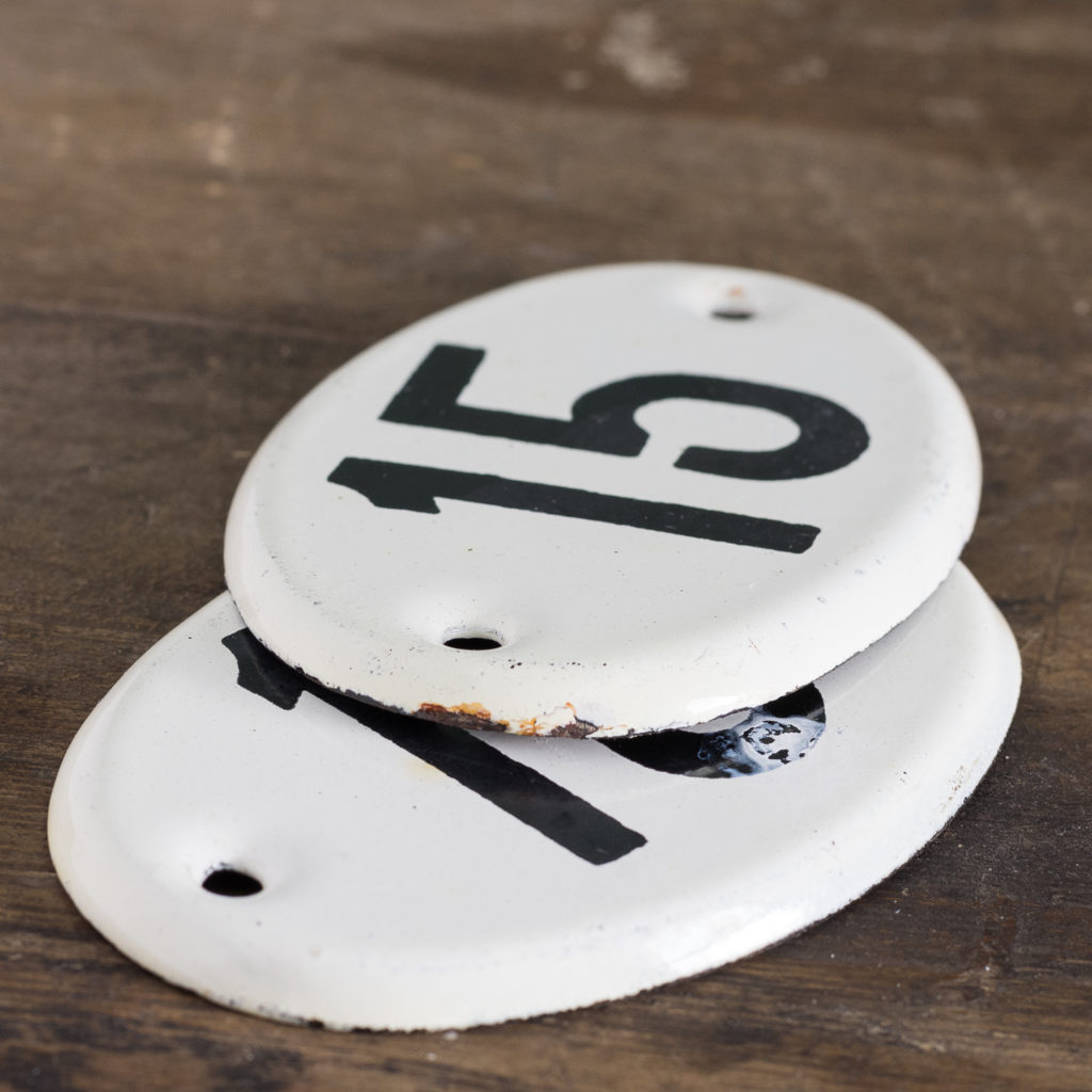 French enamelled house numbers,-121433