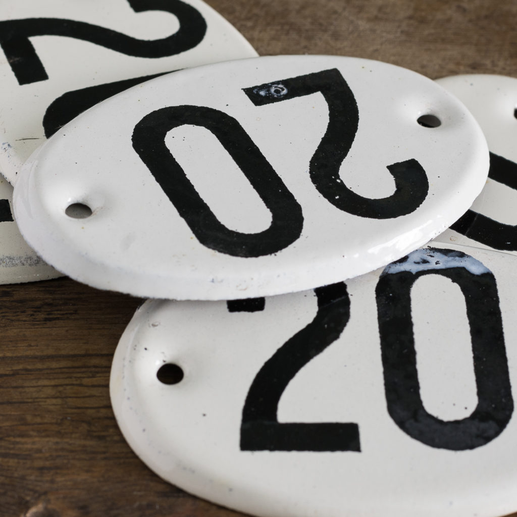 French enamelled house numbers,-121452