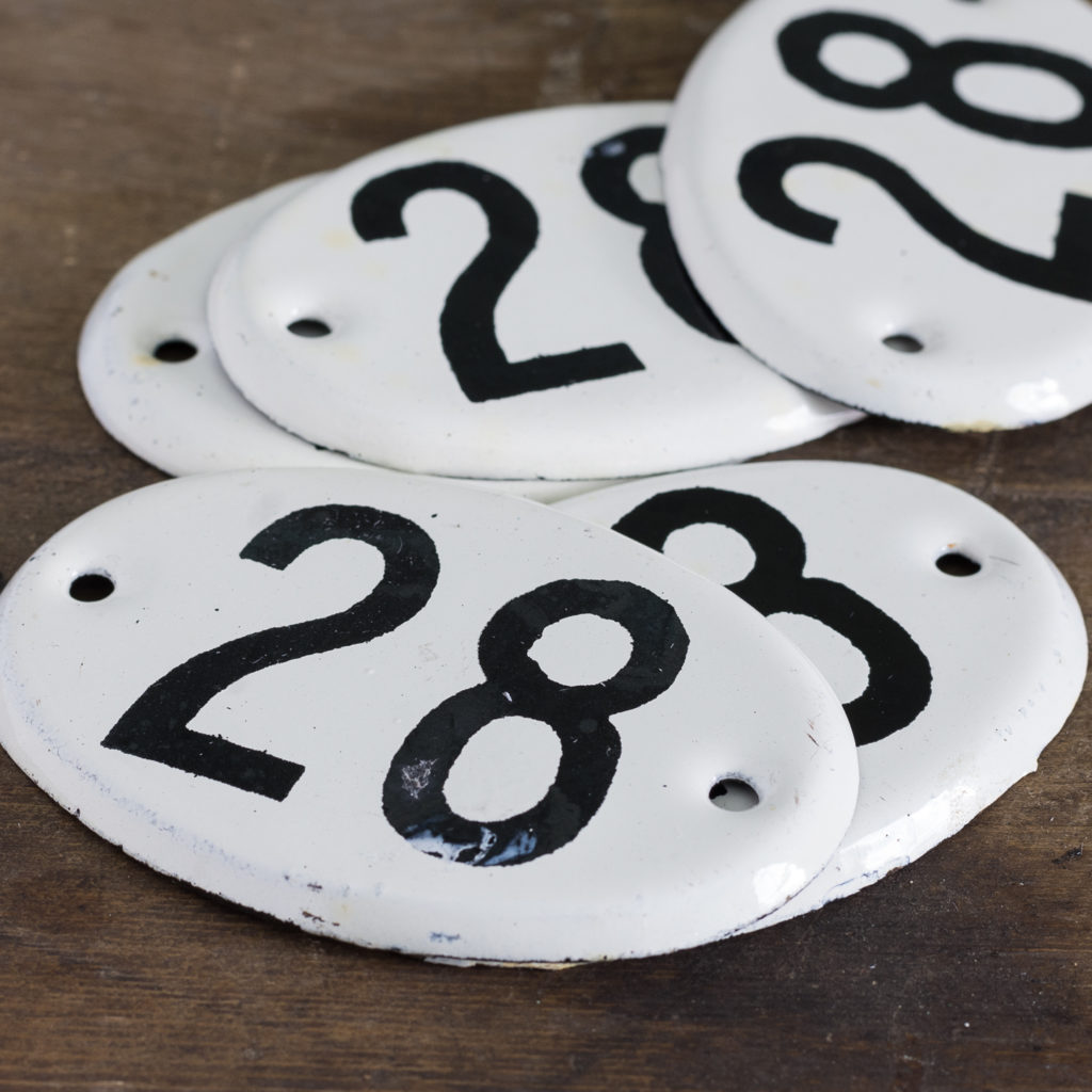 French enamelled house numbers,-121464