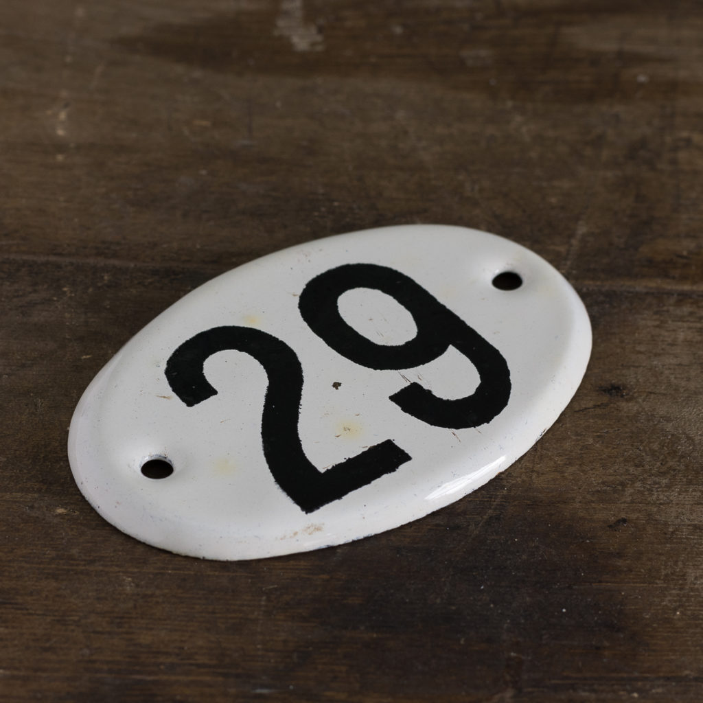 French enamelled house numbers,-121468