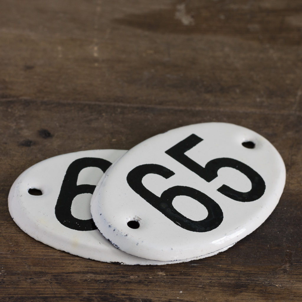 French enamelled house numbers,-121504