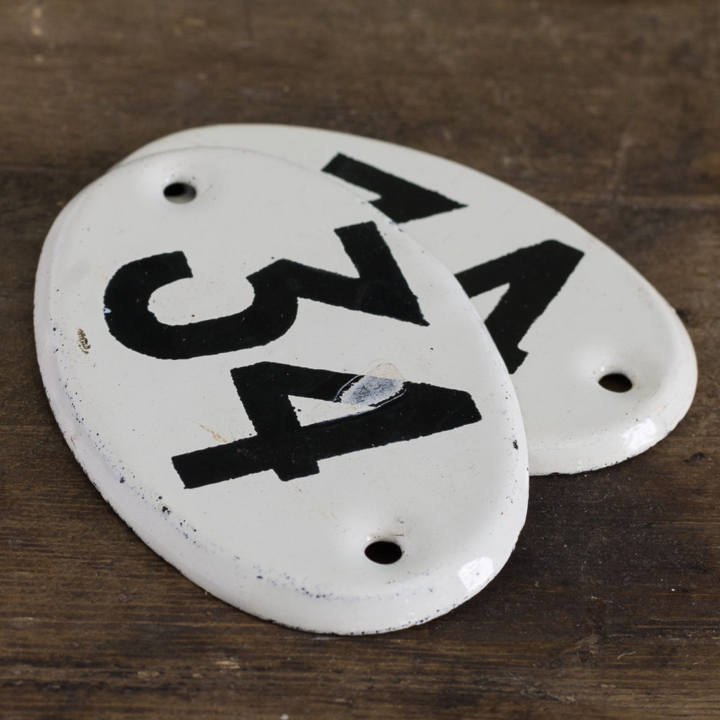 French enamelled house numbers,-121473