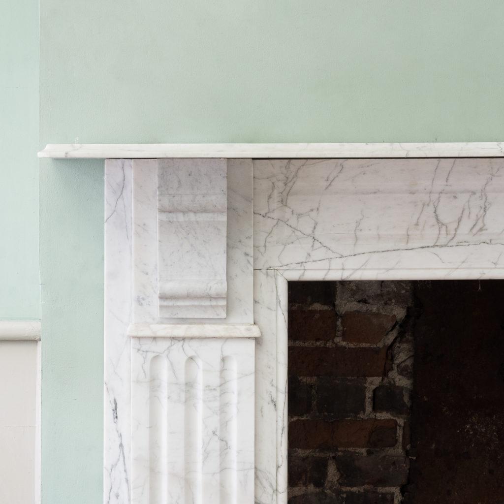 Edwardian pencil vein marble chimneypiece,-122224