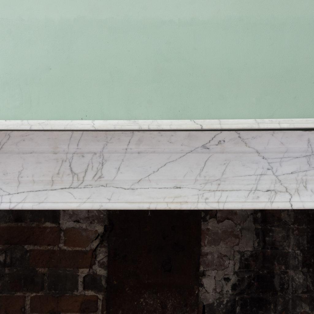 Edwardian pencil vein marble chimneypiece,-122208
