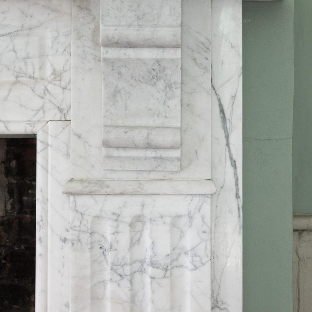 Edwardian pencil vein marble chimneypiece,-122220