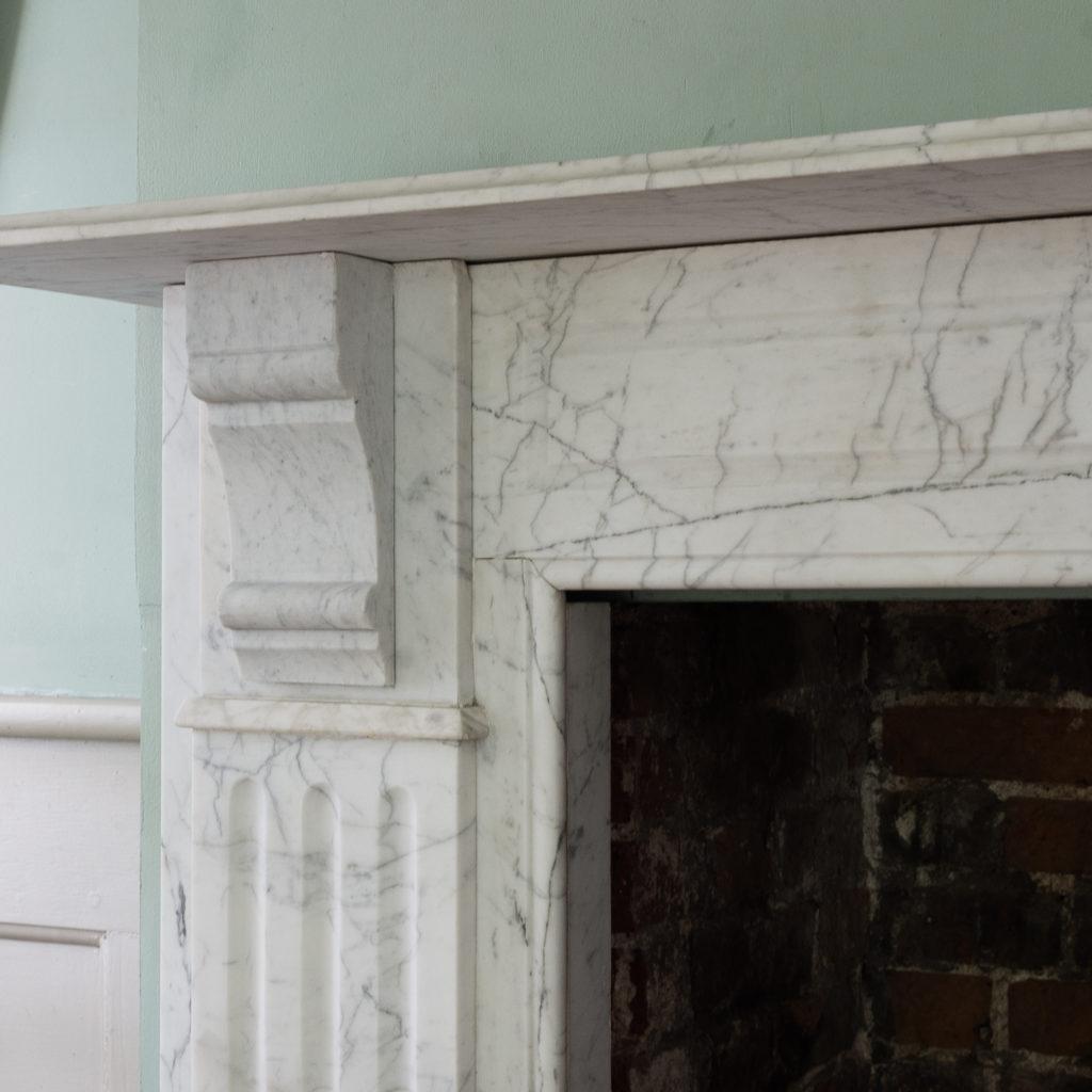 Edwardian pencil vein marble chimneypiece,-122222