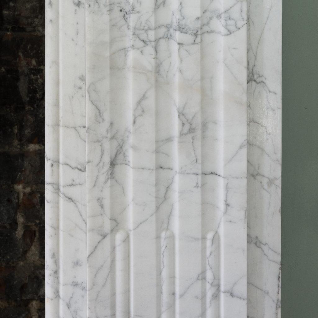 Edwardian pencil vein marble chimneypiece,-122223