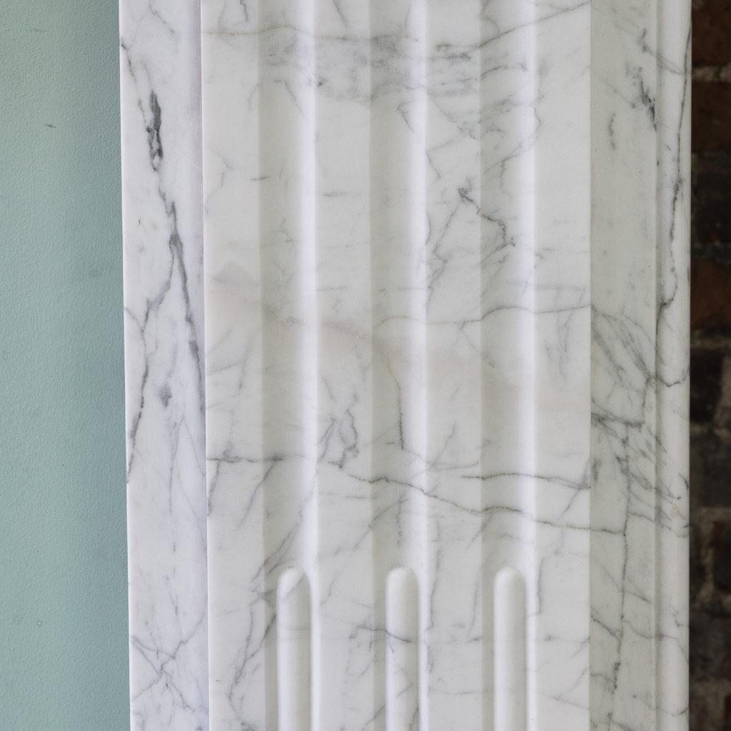 Edwardian pencil vein marble chimneypiece,-122211