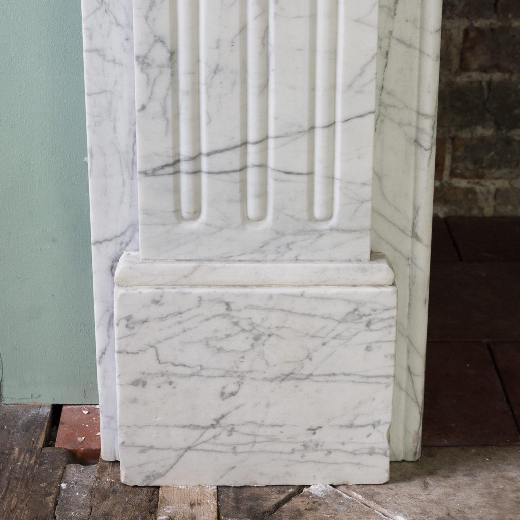 Edwardian pencil vein marble chimneypiece,-122212