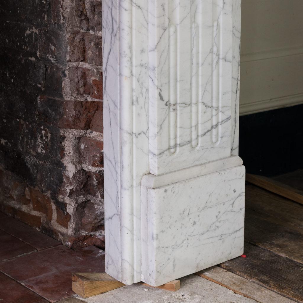 Edwardian pencil vein marble chimneypiece,-122209