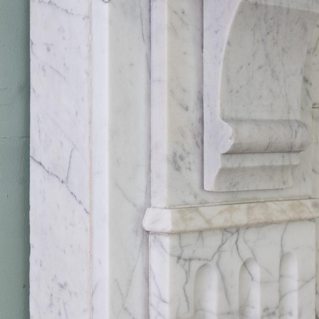 Edwardian pencil vein marble chimneypiece,-122215