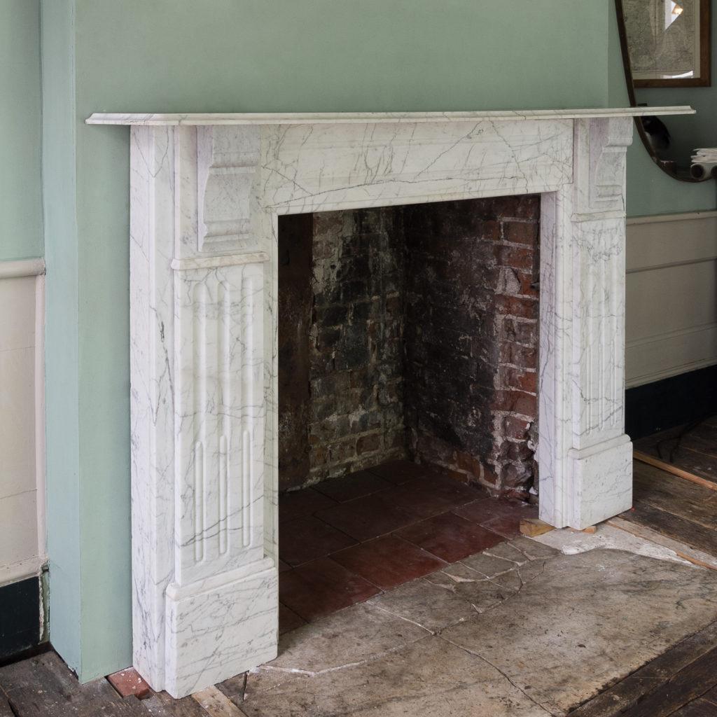 Edwardian pencil vein marble chimneypiece,-122219