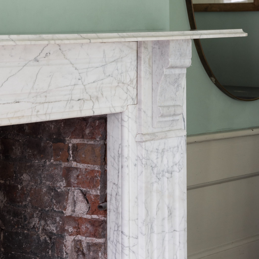 Edwardian pencil vein marble chimneypiece,-122210