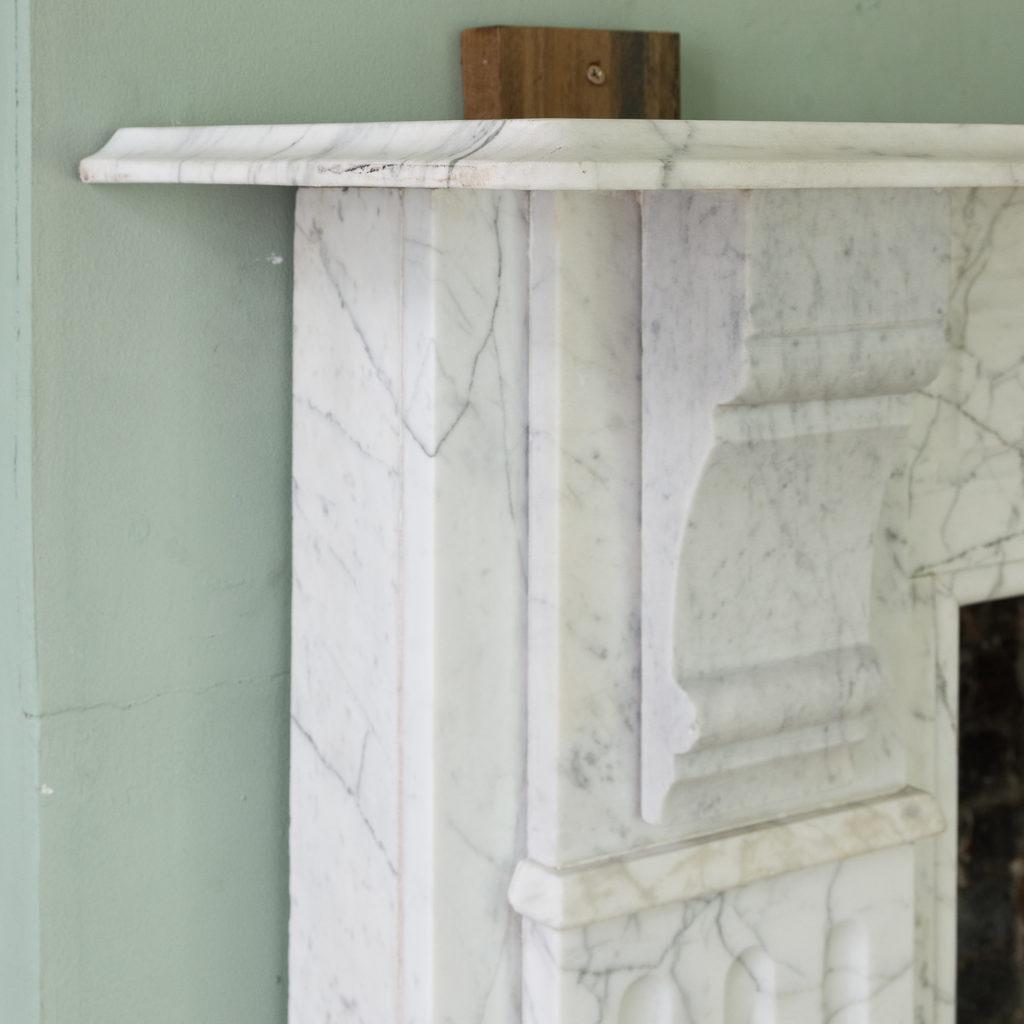 Edwardian pencil vein marble chimneypiece,-122221