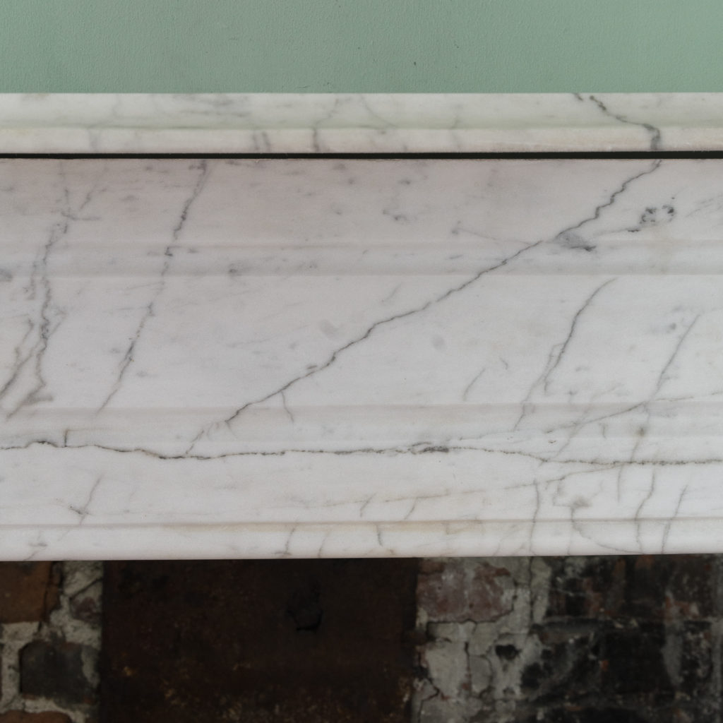 Edwardian pencil vein marble chimneypiece,-122217