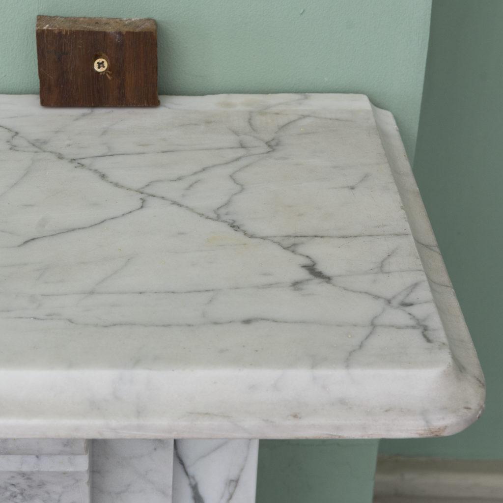 Edwardian pencil vein marble chimneypiece,-122225