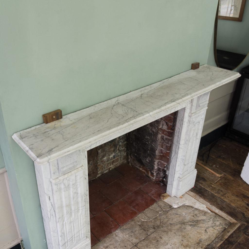 Edwardian pencil vein marble chimneypiece,-122214