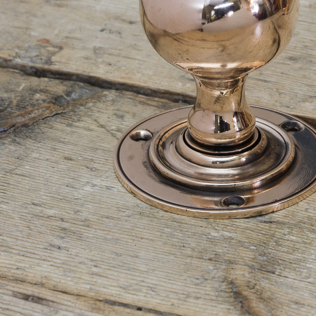 Edwardian rose brass door knobs,-122296