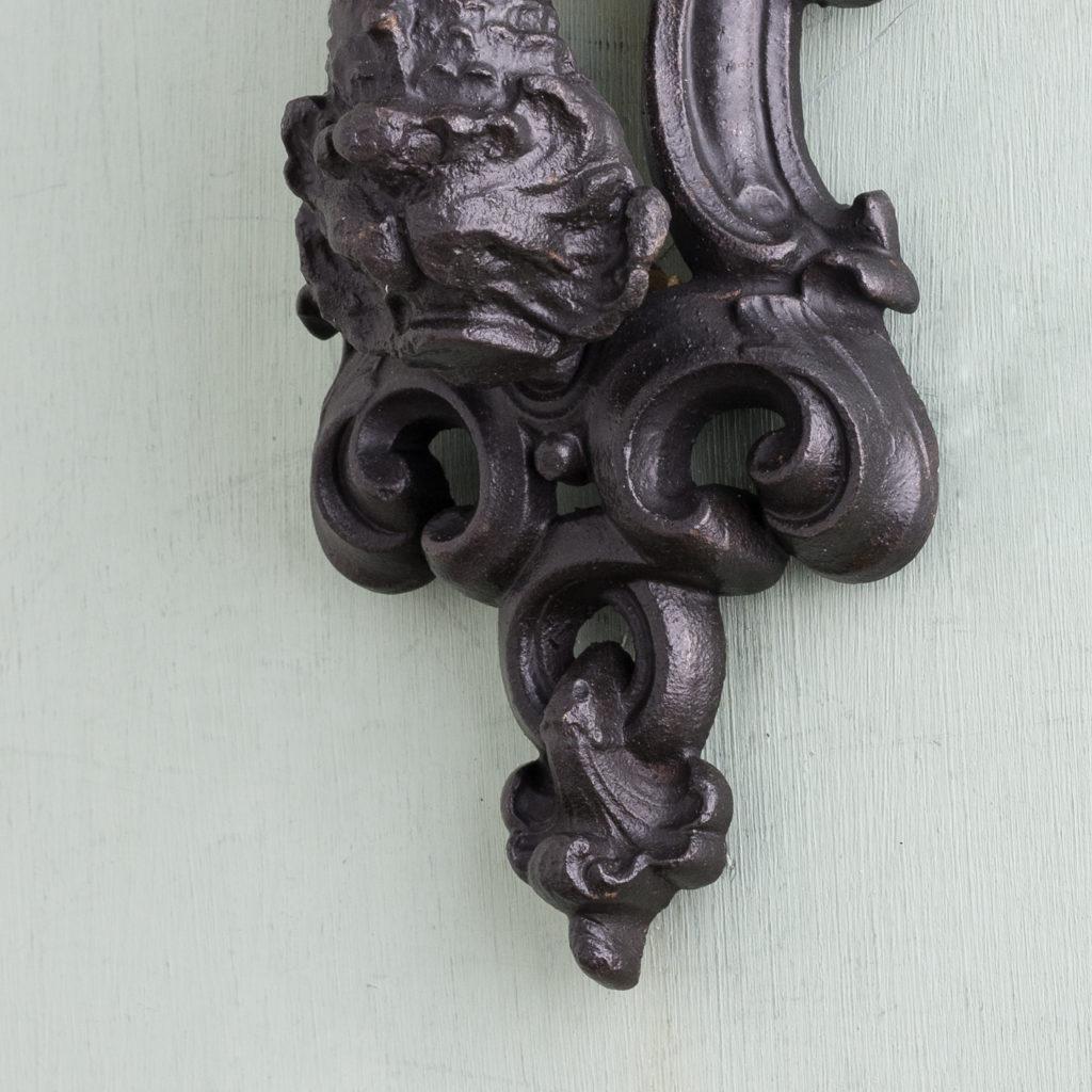Victorian cast iron door knocker,-122253