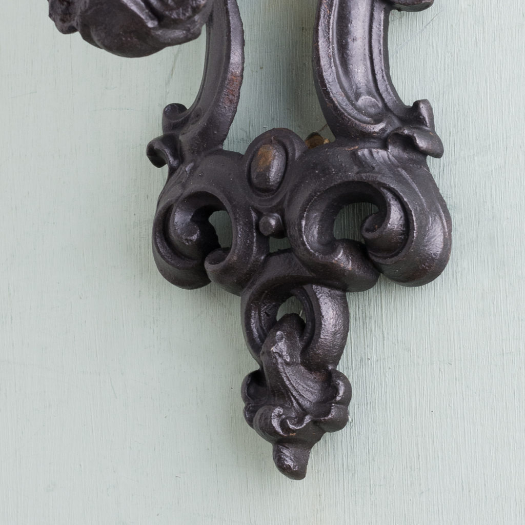 Victorian cast iron door knocker,-122252