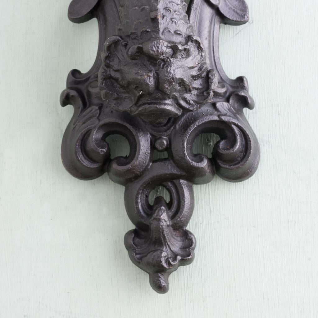 Victorian cast iron door knocker,-122248