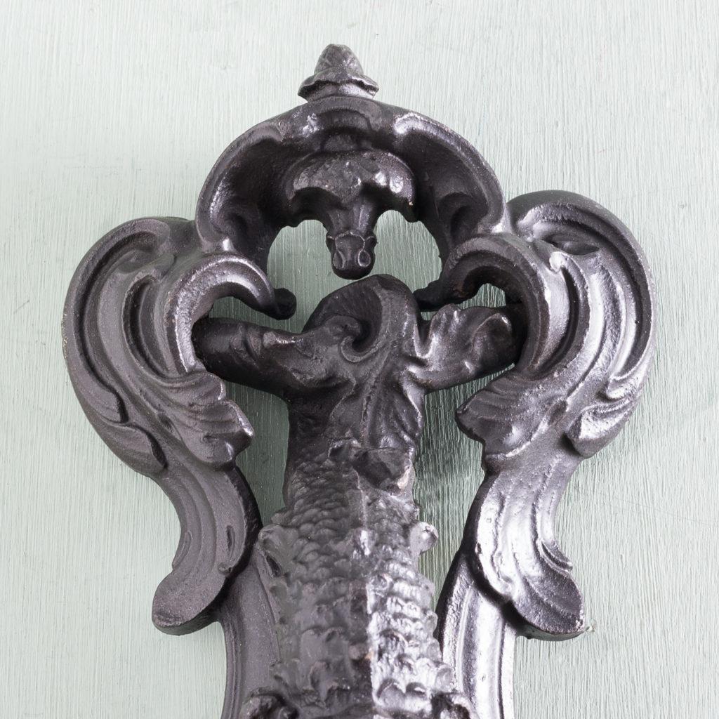 Victorian cast iron door knocker,-122246
