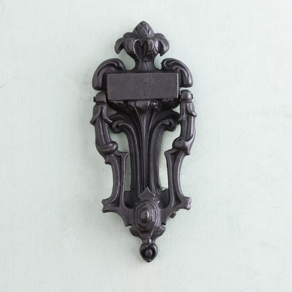 Victorian cast iron door knocker,-0