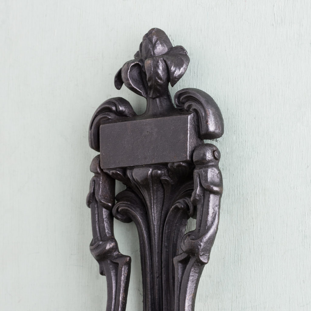 Victorian cast iron door knocker,-122259