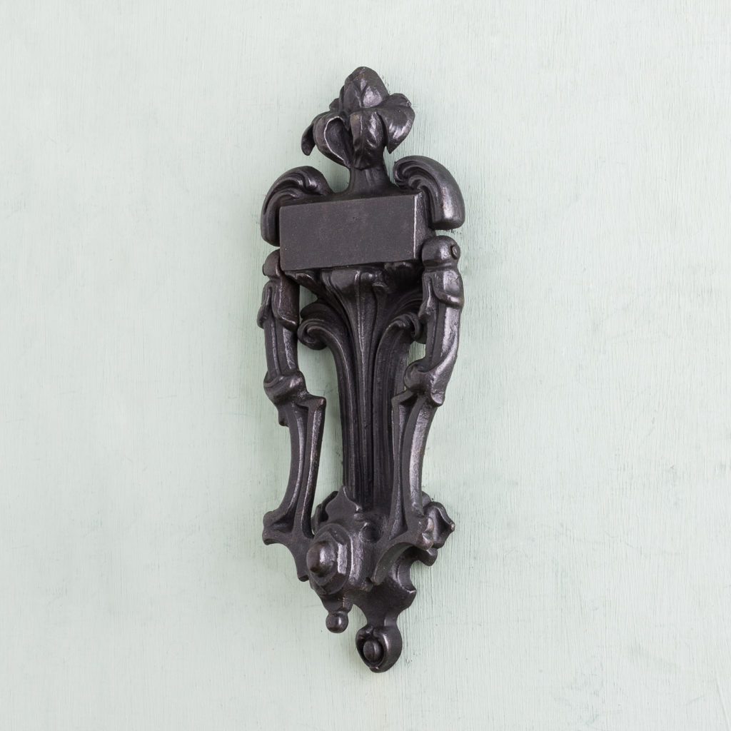 Victorian cast iron door knocker,-122260