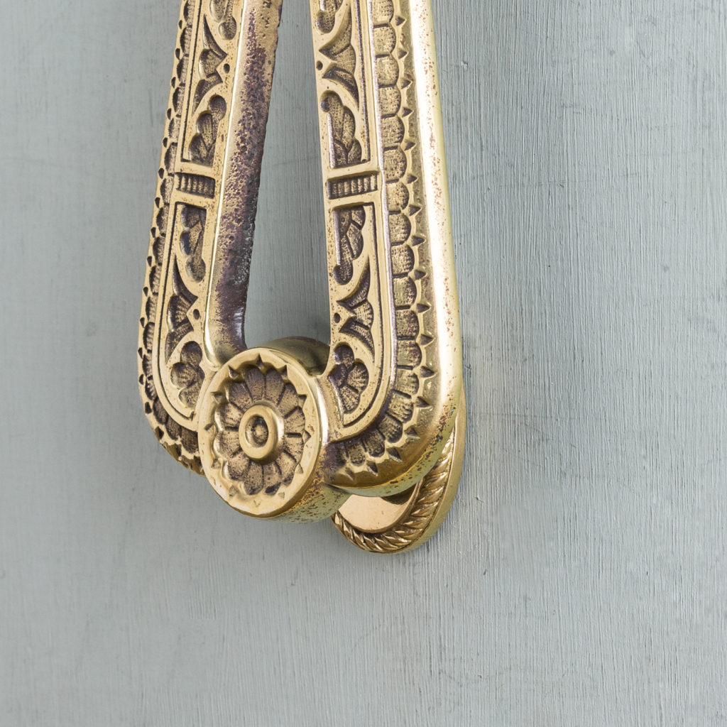 Aesthetic period brass door knocker,-122272