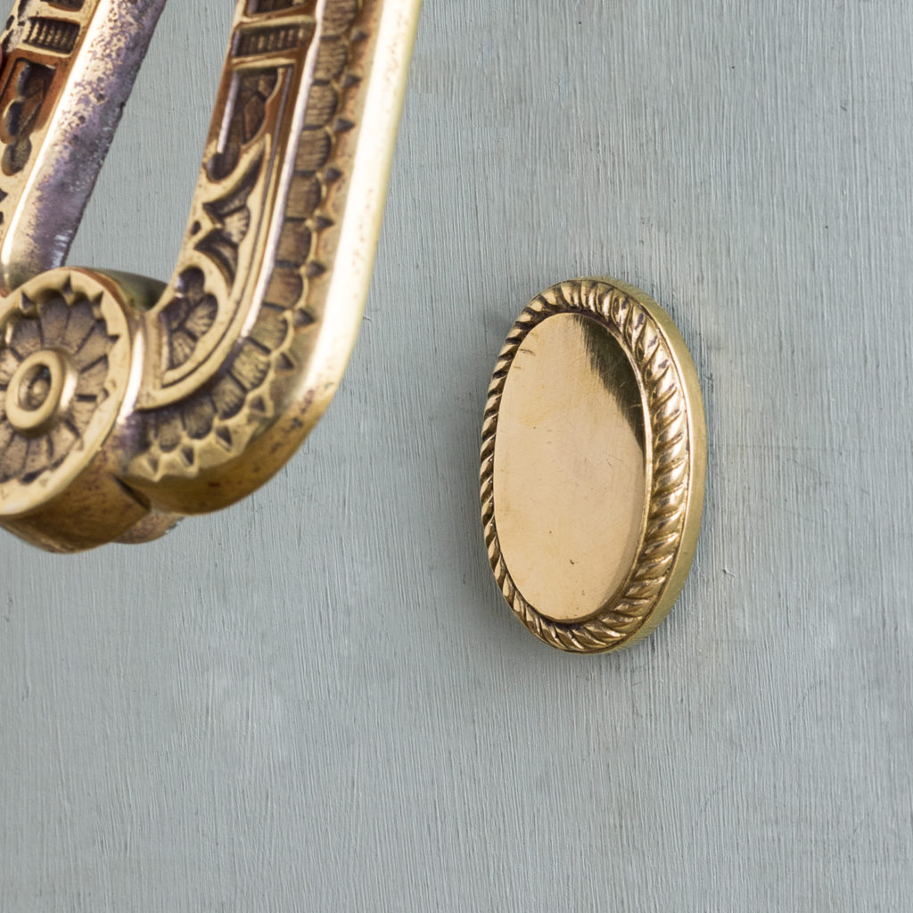 Aesthetic period brass door knocker,-122265