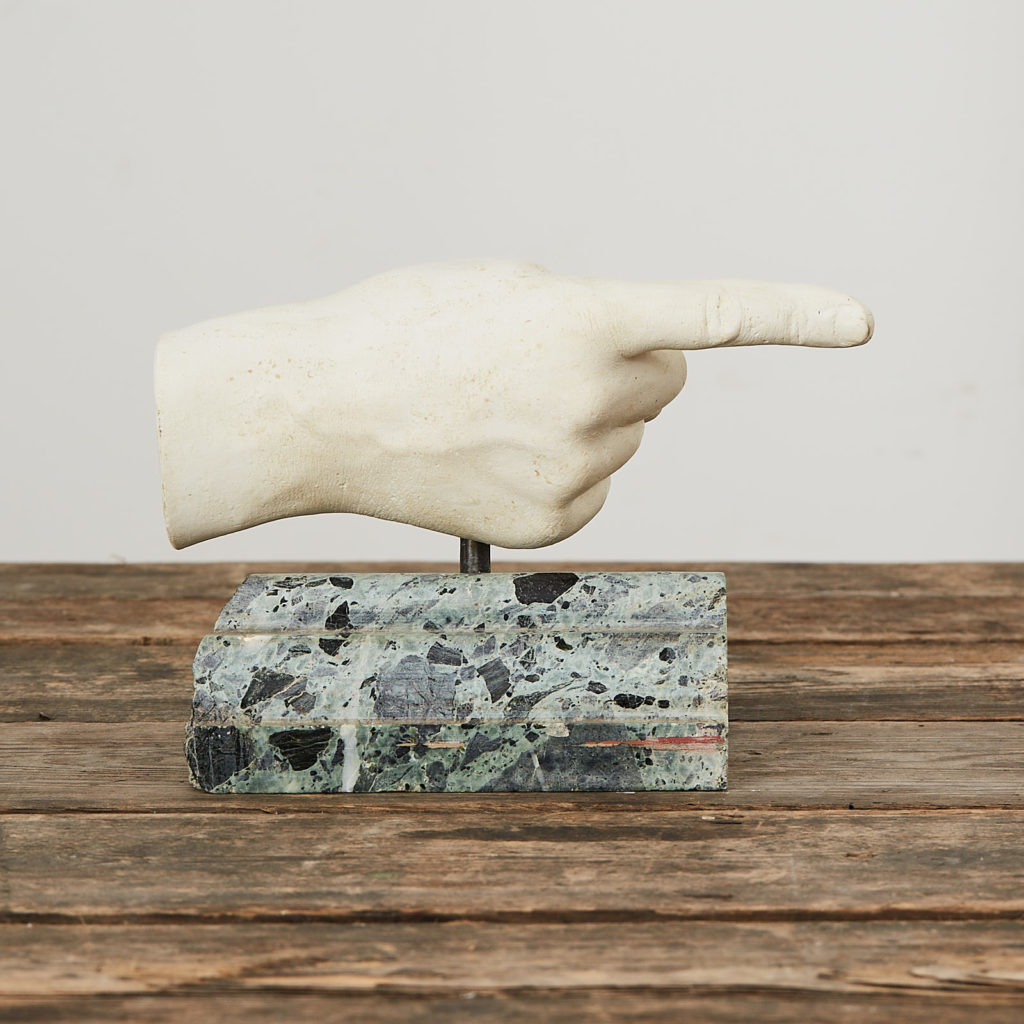 Plaster cast pointing hand,-122892