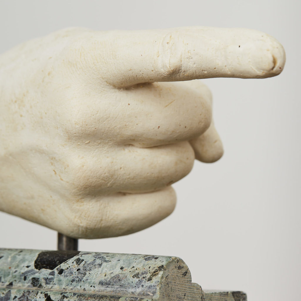 Plaster cast pointing hand,-122889