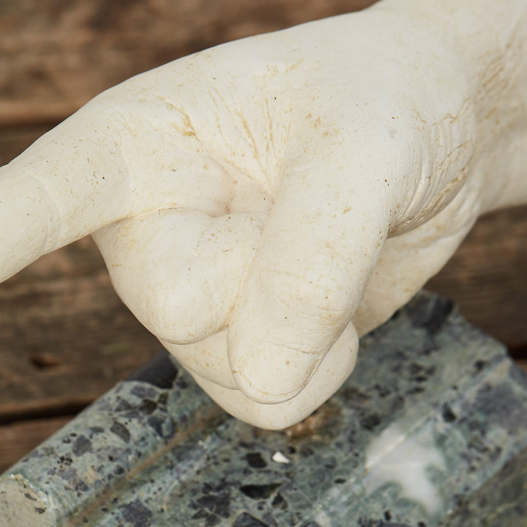 Plaster cast pointing hand,-122891