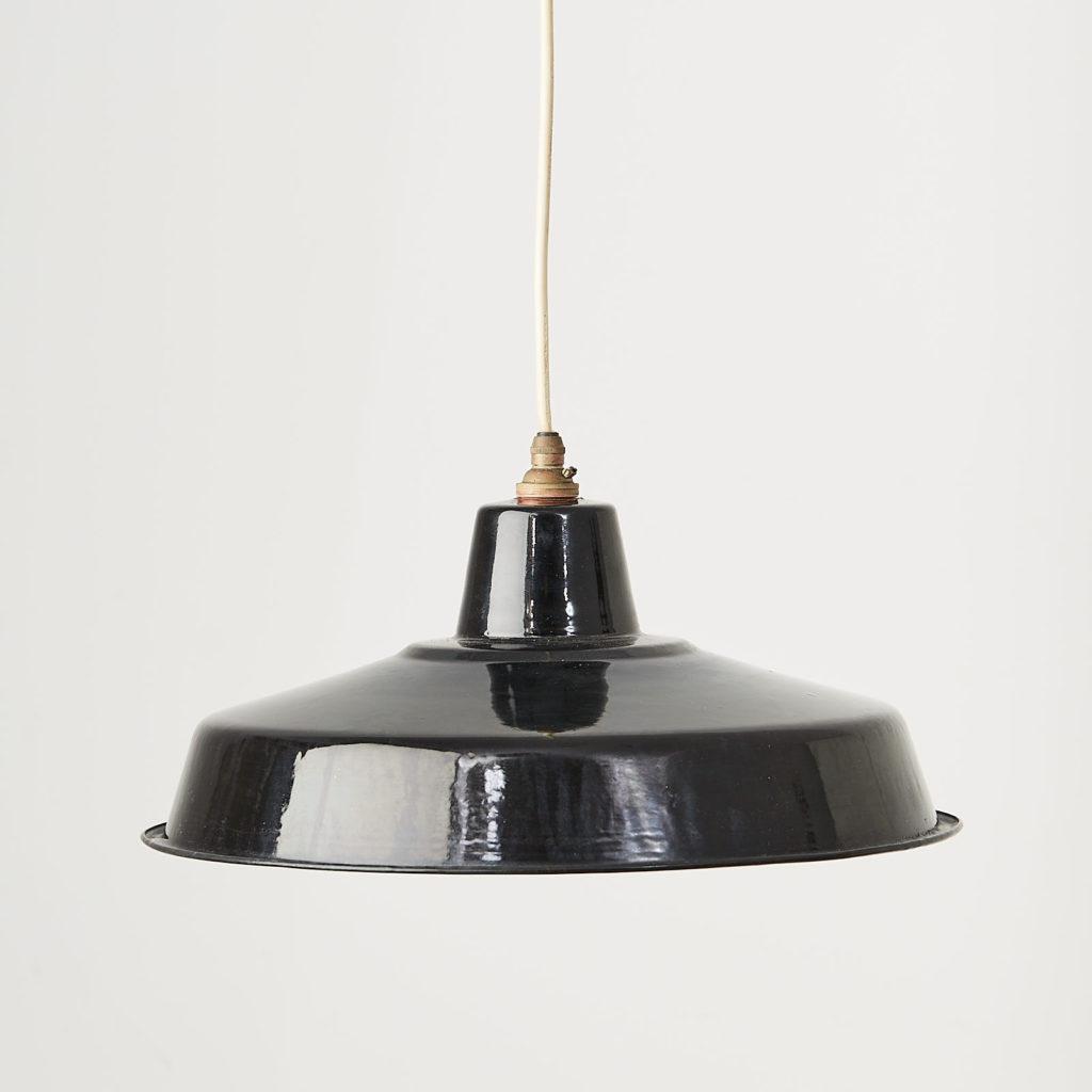 Black enamel light shade,-0