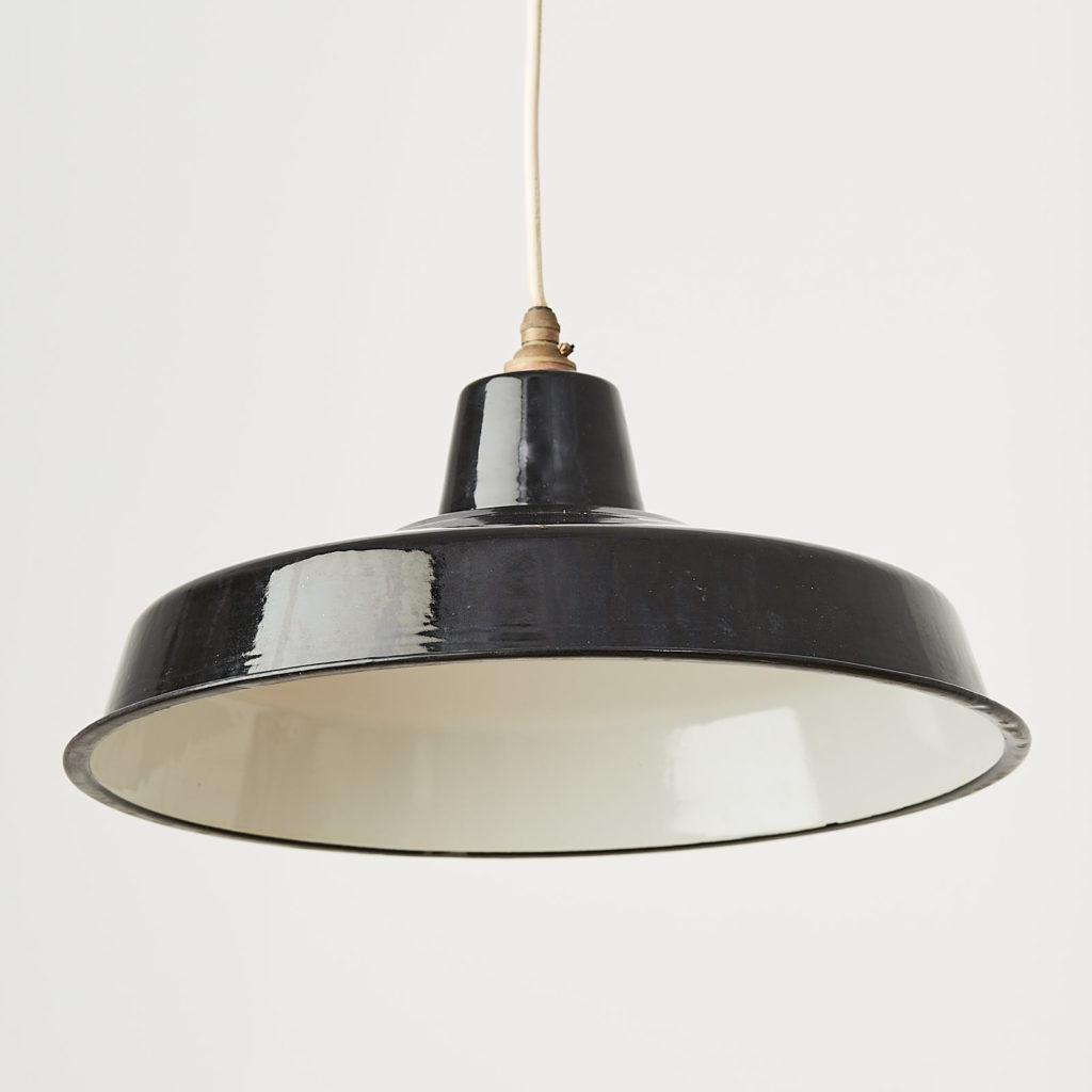 Black enamel light shade,-122830