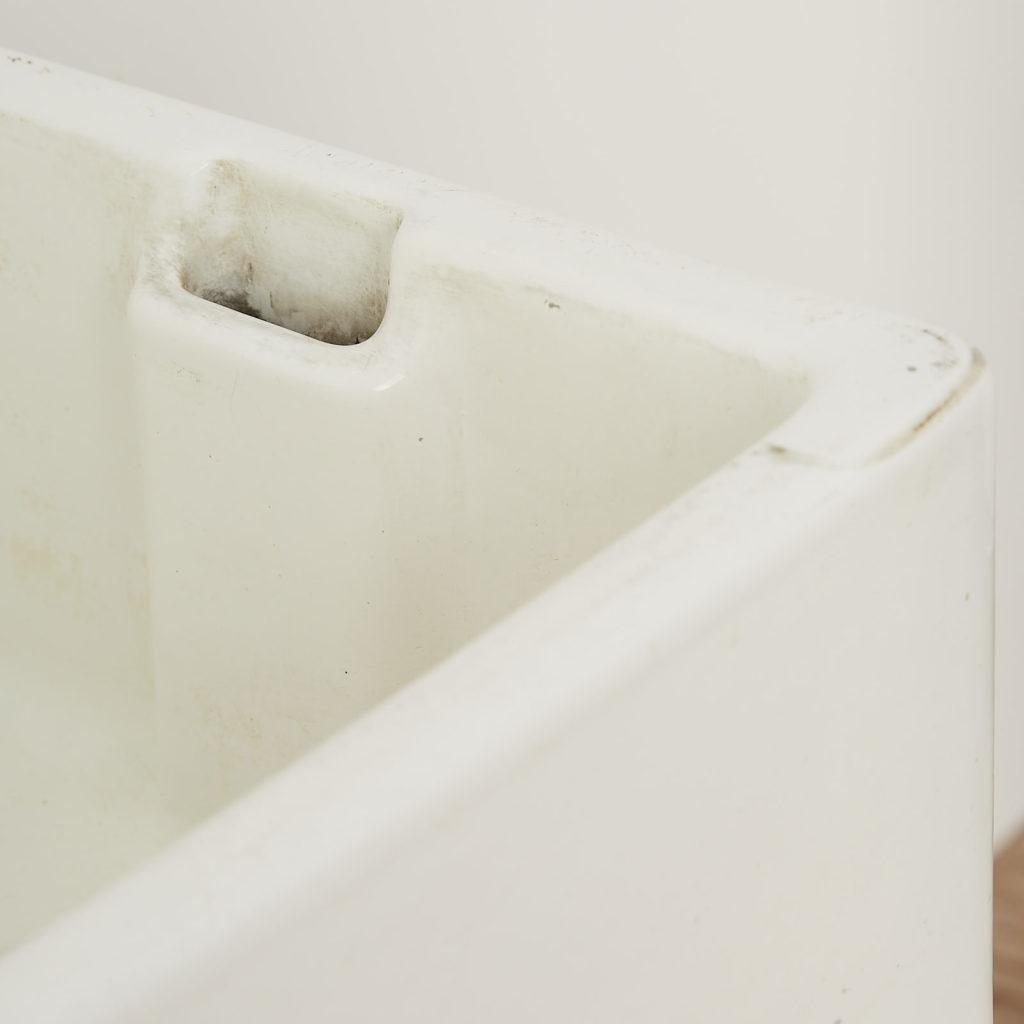 Enamel Belfast sink on Ash pedestal, -122809
